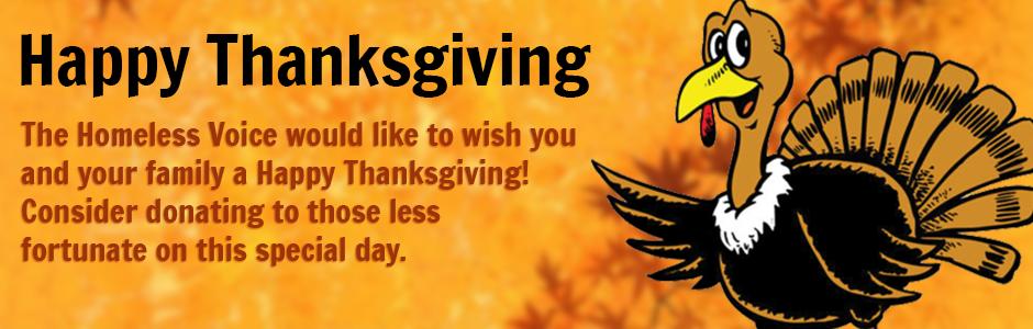 Homeless Voice Donate Thanksgiving